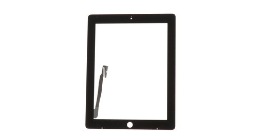 Home Button Assembly for iPad 3 Black Front Panel Touch Screen Glass Digitizer